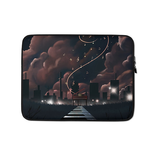 """Laptop sleeve """"Scales to Fame"""" by Saddielynn"""