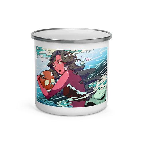 "Enamel Mug ""Under the Tides"" by ""MoxxiMonroe"""