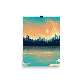 "Poster ""Winter Reflection "" by Saddielynn"