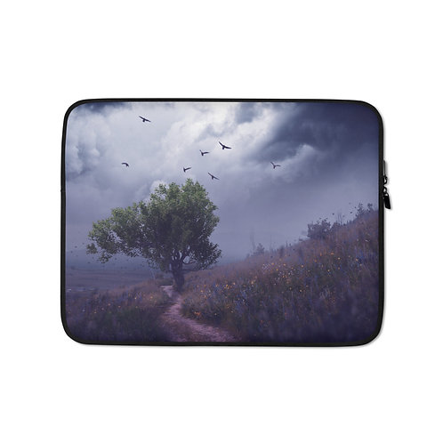 """Laptop sleeve """"The Strong Tree"""" by Elysekh"""