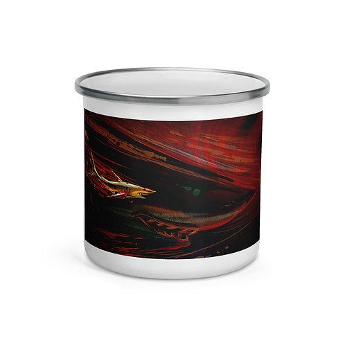 """Enamel Mug """"Branchia"""" by """"Culpeo-Fox"""""""