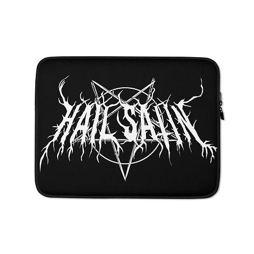 """Laptop sleeve """"Hail Satin"""" by Rezabisuto"""