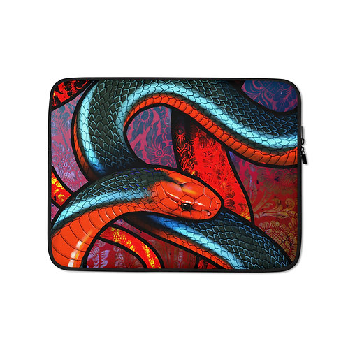 "Laptop sleeve ""Blue Coral Snake"" by Culpeo-Fox"