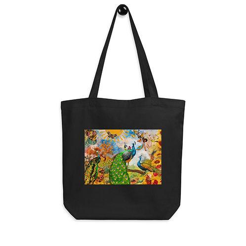 "Tote bag ""Peacock Garden"" by ""phatpuppyart-studios"""
