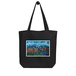 """Tote bag """"Whistler Village"""" by """"LauraZee"""""""