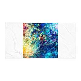 """Beach Towel """"My Indigo"""" by Solar-sea"""