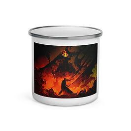 """Enamel Mug """"Eowyn Vs The Witch King"""" by """"Anatofinnstark"""""""
