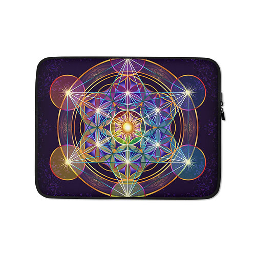 """Laptop sleeve """"Fruit of Life"""" by Lilyas"""