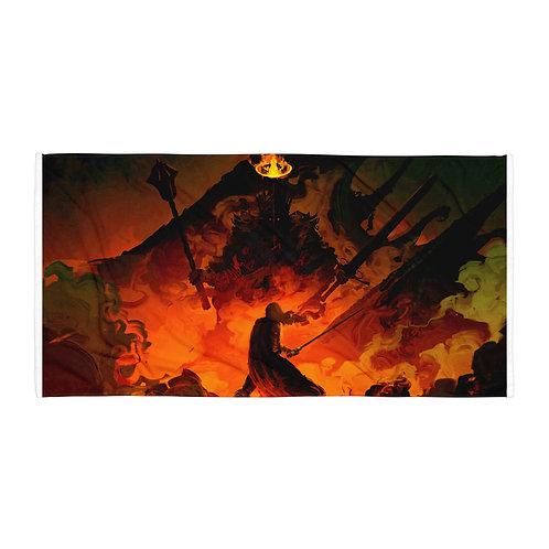 "Beach Towel ""Eowyn Vs The Witch King"" by ""Anatofinnstark"""