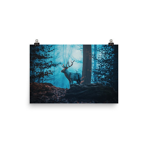 """Poster """"Blue Forest"""" by Hotamr"""