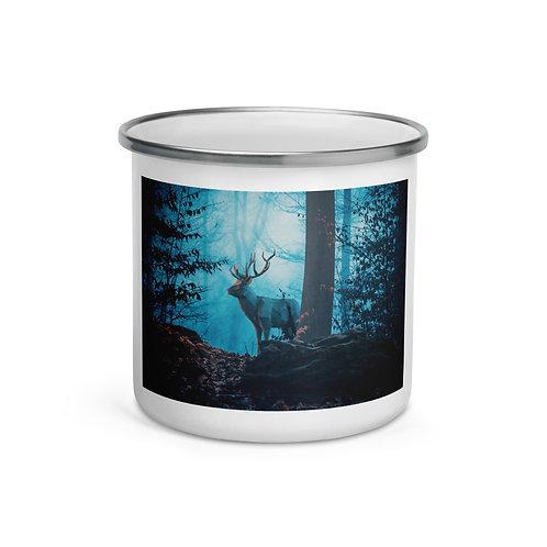 """Enamel Mug """"Blue Forest"""" by Hotamr"""