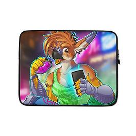 """Laptop sleeve """"Cyberpunk Gryph"""" by Lizkay"""