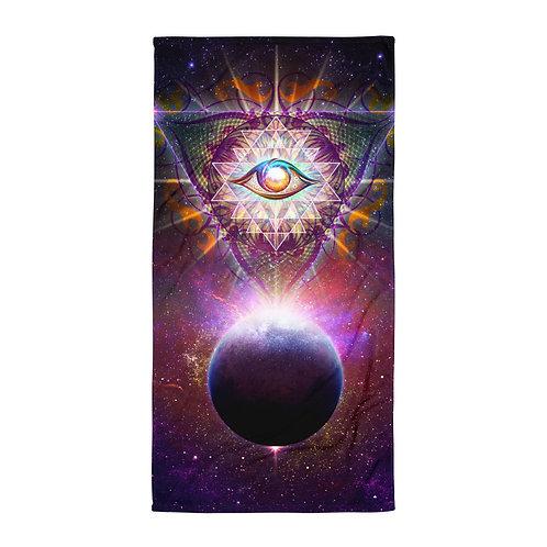 "Beach Towel ""Cosmic Eye"" by ""Lilyas"""