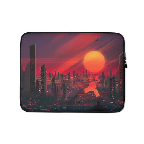 "Laptop sleeve ""3019 City of Bright Lights"" by JoeyJazz"