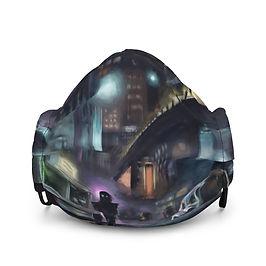 """Mask """"Cyberpunk City"""" by Hymnodi"""