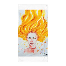 "Beach Towel ""Burn"" by Bikangarts"