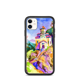 """iPhone case """"Brightside Temple"""" by Solar-sea"""