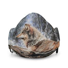 "Mask ""Wolf Waterfall"" by Beckykidus"