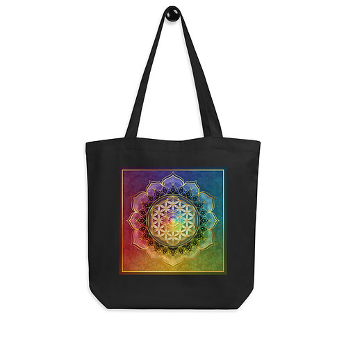 """Tote bag """"Rainbow Flower of Life"""" by """"Lilyas"""""""