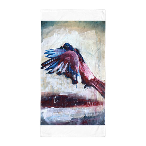 """Beach Towel """"City Bird"""" by """"MikeOncley"""""""