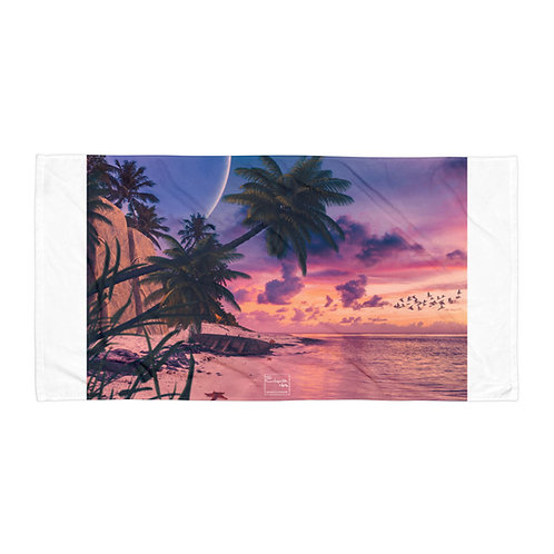 "Beach Towel ""The Starfish Beach"" by Elysekh"
