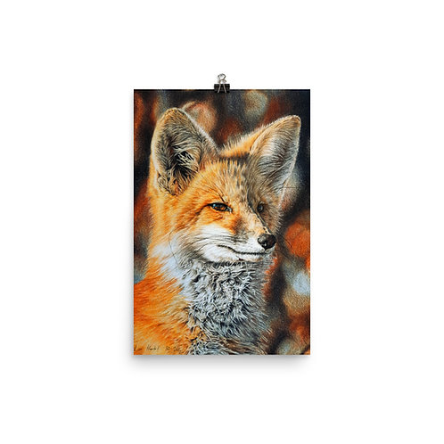 """Poster """"Bright Side of the Red Fox"""" by Beckykidus"""