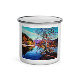"Enamel Mug ""Near the Water"" by ""Gudzart"""
