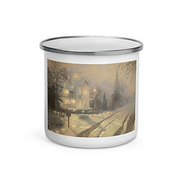 """Enamel Mug """"Jamestown Victorian"""" by """"chateaugrief"""""""