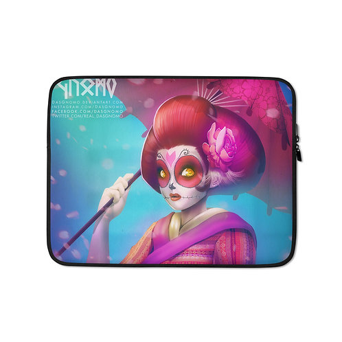 """Laptop sleeve """"Geisha Catrina"""" by DasGnomo"""
