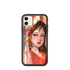 """iPhone case """"Button Girl"""" by Pigliicorn"""