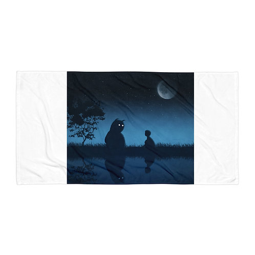 """Beach Towel """"The Friend of the Night"""" by Hotamr"""