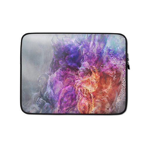 """Laptop sleeve """"Ice Prince and the Phoenix"""" by Solar-sea"""