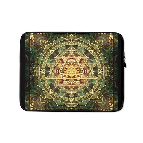 """Laptop sleeve """"Sri Yantra Healing Mandala"""" by Lilyas"""