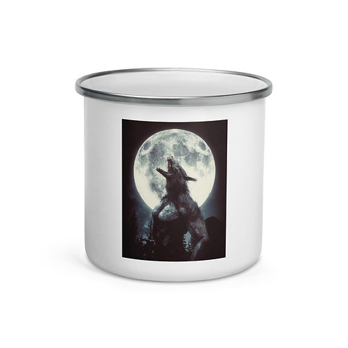 """Enamel Mug """"The Werewolf"""" by Hotamr"""
