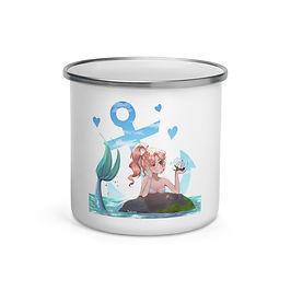 "Enamel Mug ""Mermaid Girl"" by Pigliicorn"