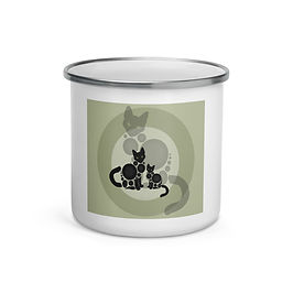 "Enamel Mug ""Meow"" by Astralseed"