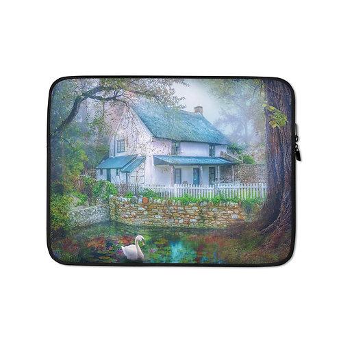 "Laptop sleeve ""Country Cottage"" by Phatpuppyart-studios"