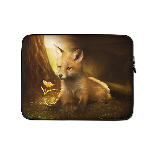 """Laptop sleeve """"Little Fox and the flowers"""" by ElenaDudina"""