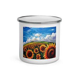 "Enamel Mug ""Sunflower World"" by ""LauraZee"""