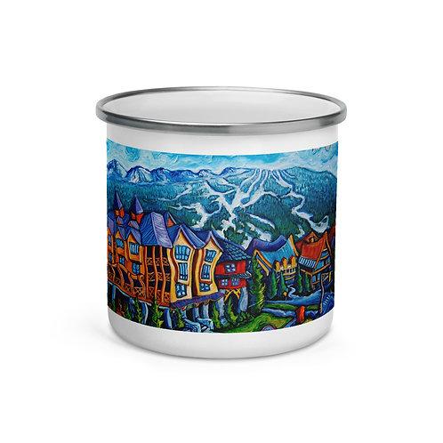 "Enamel Mug ""Whistler Village"" by ""LauraZee"""