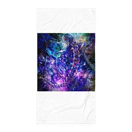 "Beach Towel ""Hymn of Gathering Stars"" by Solar-sea"