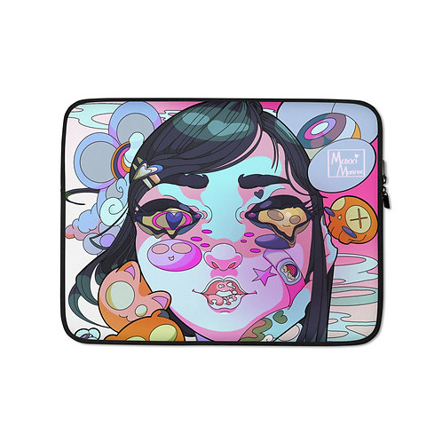 """Laptop sleeve """"Sunny Side Up"""" by MoxxiMonroe"""