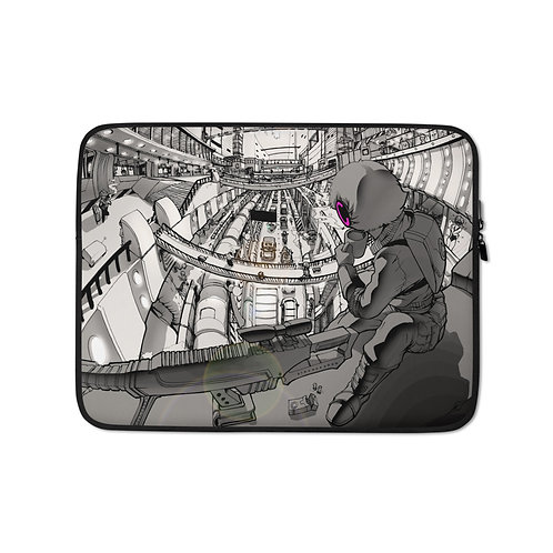 """Laptop sleeve """"Hustle and Bustle"""" by Ccayco"""