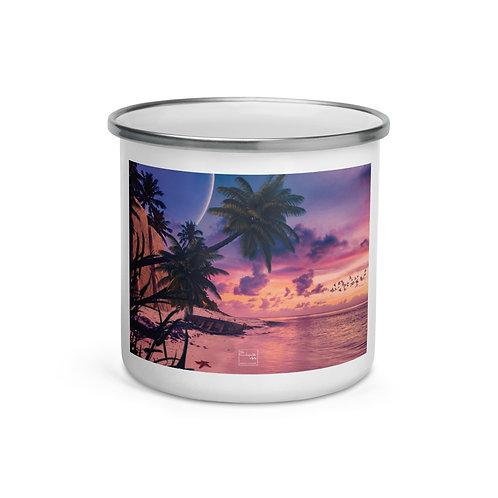 "Enamel Mug ""The Starfish Beach"" by Elysekh"