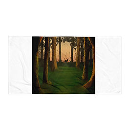 "Beach Towel ""Hunter's Path"" by Saddielynn"