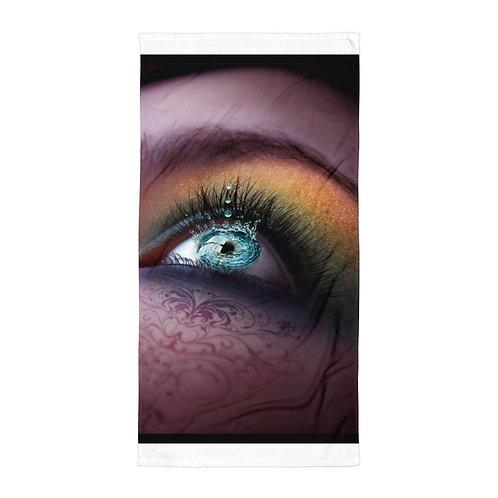 "Beach Towel ""Water in my Eyes"" by ""Lilyas"""