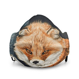 """Mask """"Red Fox Fire and Frost"""" by Beckykidus"""