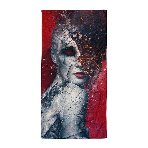 """Beach Towel """"Indifference"""" by """"Aegis-Illustration"""""""