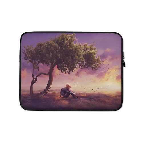"""Laptop sleeve """"Where the Wind Takes Me"""" by Elysekh"""