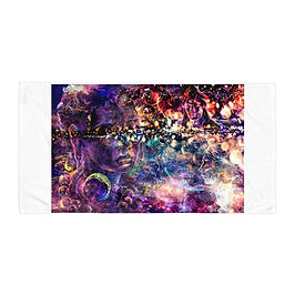 """Beach Towel """"Dreaming Galaxies"""" by Solar-sea"""